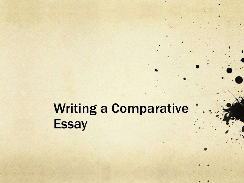 comparative essay writing